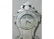 Venetian Antique Wall Mirror a Clock Homemade from Indonesia